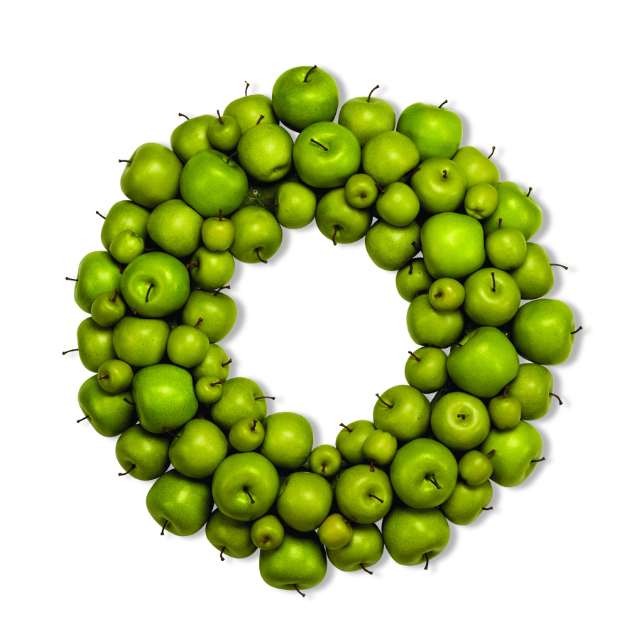24 Inch Green Apple Wreath