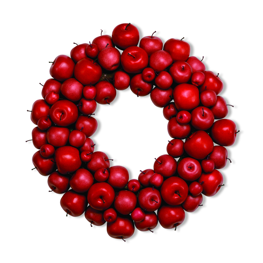 24 Inch Red Apple Wreath