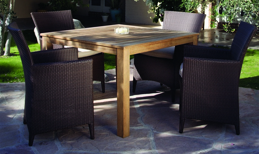 Kingsley-Bate 5 Piece Vieques and Wainscott Woven Dining Ensemble