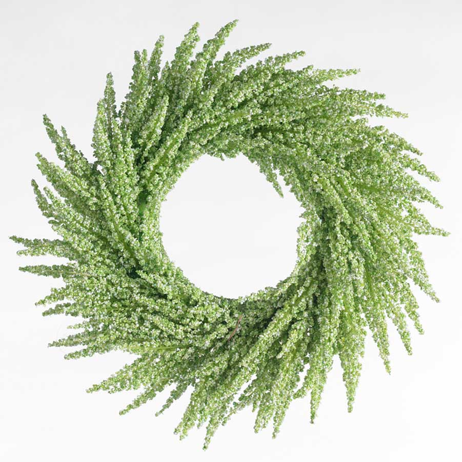 12 Inch Green Floral Wreath