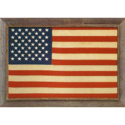 US Flag in Barnwood Frame