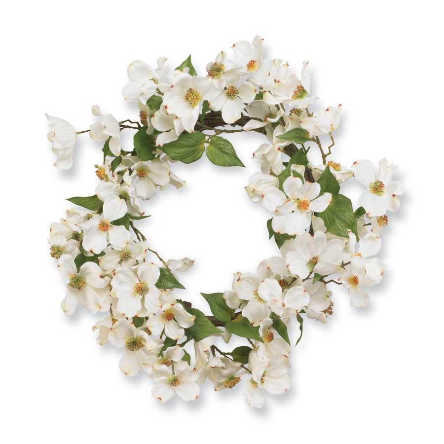 20 Inch White Dogwood Wreath