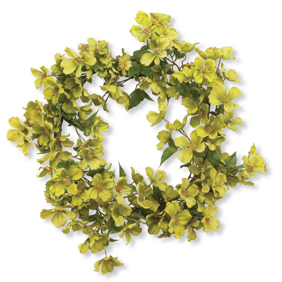 26 Inch Green Dogwood Wreath