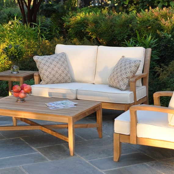 Kingsley-Bate Somerset 4 Piece Teak Deep Seating Ensemble