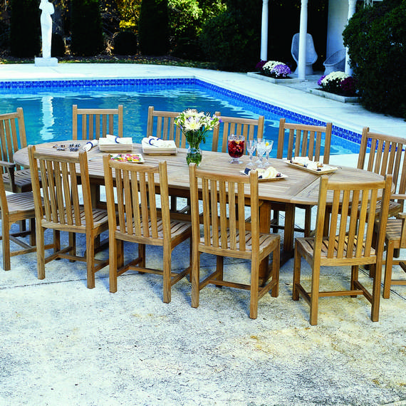 Kingsley-Bate Classic and Essex 25 Piece Teak Dining Ensemble
