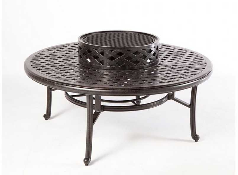 Alfresco Home Weave Fire Pit Patio Table