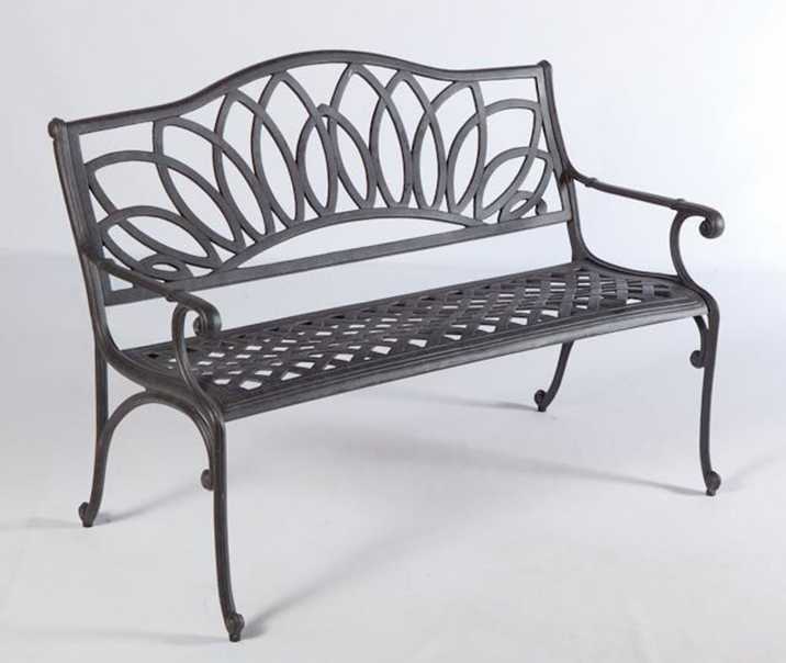 Alfresco Home Wisteria Cast Aluminum Patio Bench
