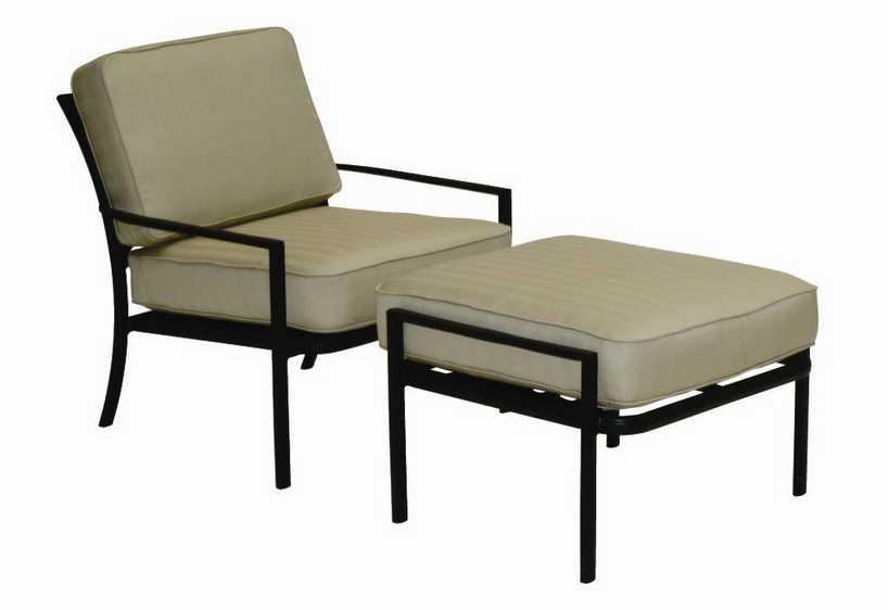 Landgrave Royale Aluminum Cushion Arm Lounge Chair