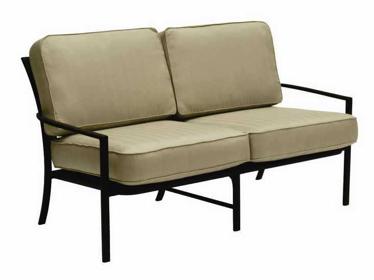 Landgrave Royale Aluminum Cushion Arm Loveseat