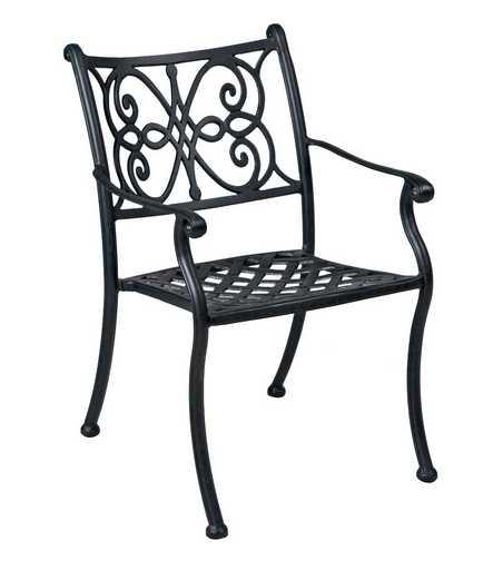 Landgrave Venice Aluminum Metal Arm Dining Chair