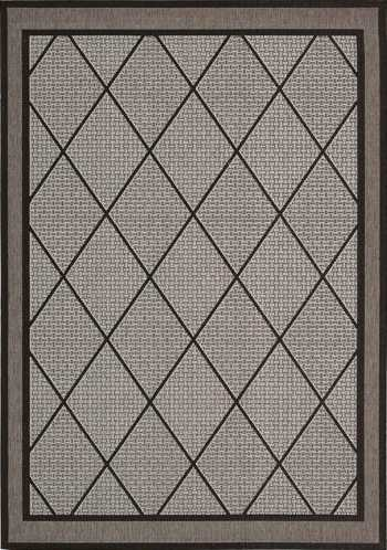 Nourison Indoor/Outdoor Eclipse Silver Rug