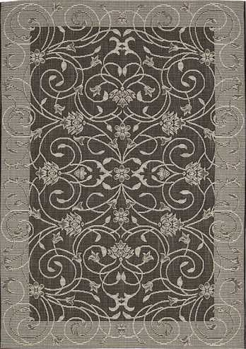 Nourison Indoor/Outdoor Eclipse Grey Rug