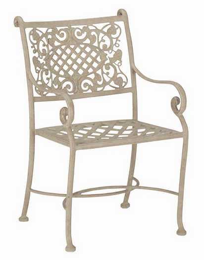 Landgrave Palermo Cast Aluminum Arm Dining Chair