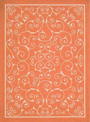 Nourison Indoor/Outdoor Home & Garden Orange Rug