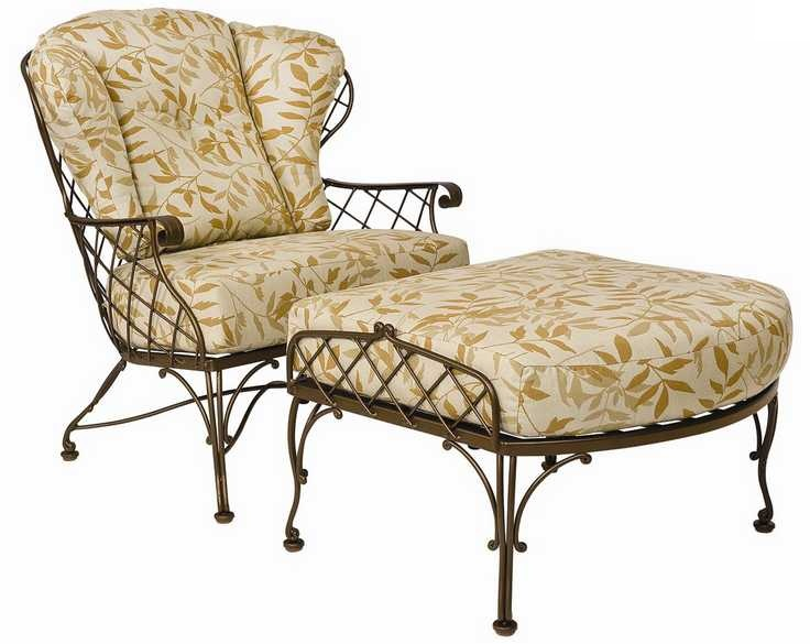 Brayden Wrought Iron Stationary Lounge Chair