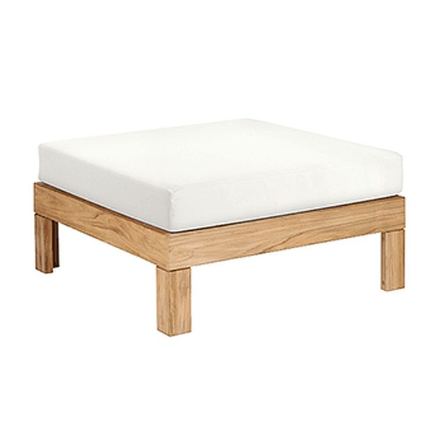 Barlow Tyrie Linear Teak Deep Seating Ottoman