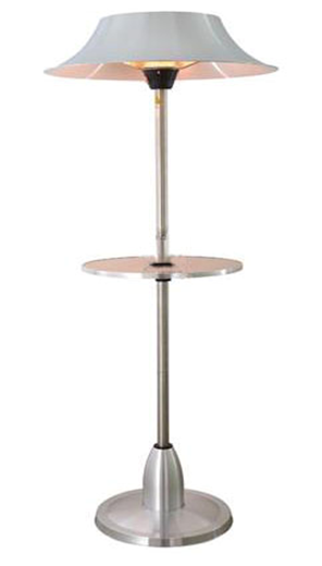 Tall Infrared Heat Lamp W/Table