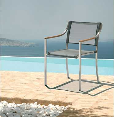 Barlow Tyrie Quattro Stainless Steel Chair