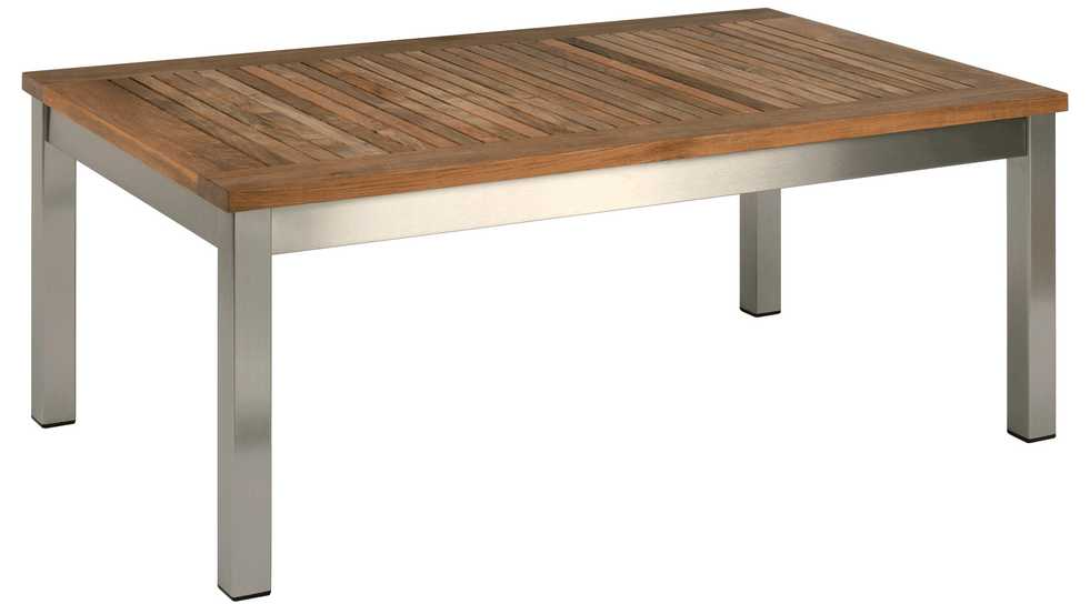 Barlow Tyrie Equinox Teak Rectangular Low Coffee Table 39�