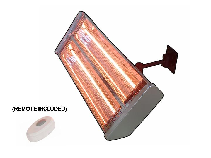 Dual Bulb Wall Mount Infrared Heat Lamp