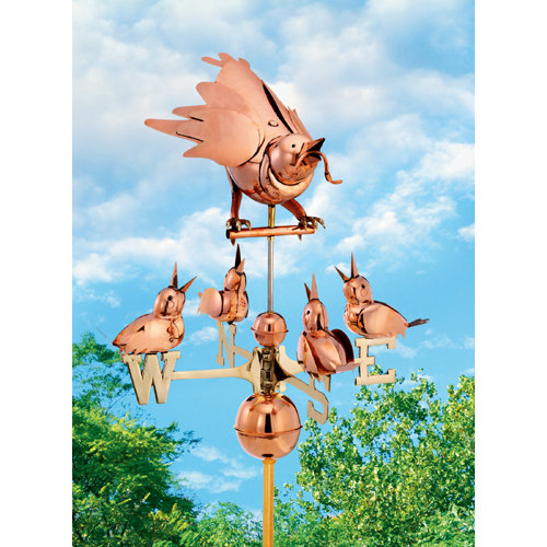 Mother Bird with Chicks Weathervane