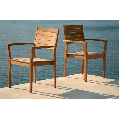 Barlow Tyrie Horizon Teak Stacking Armchair