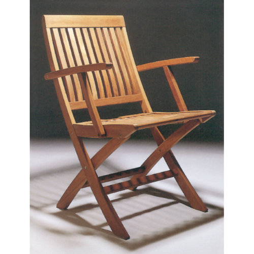 Barlow Tyrie Monaco Teak Folding Arm Chair
