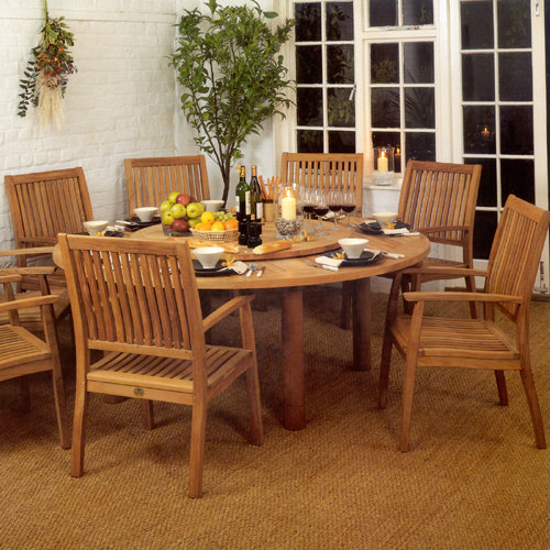 Barlow Tyrie Drummond 73� Circular Teak Dining Table