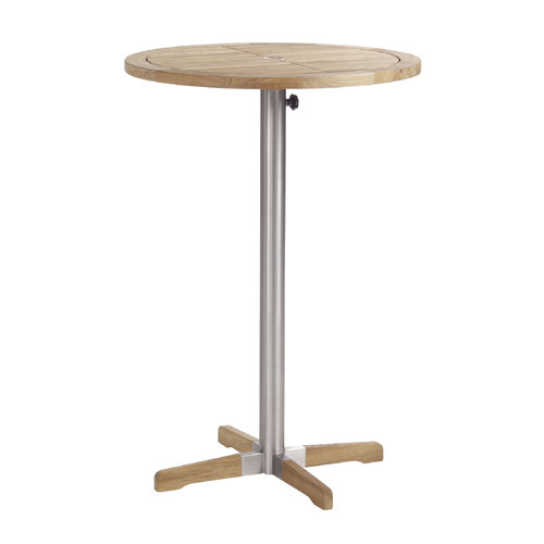 Barlow Tyrie Equinox Teak Trimmed  Circular High Dining Table