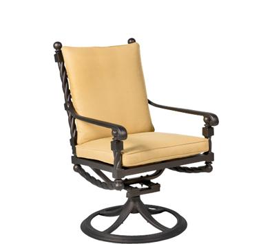 Landgrave Bretain Swivel Rocker Cast Aluminum – Seat & Back Cushion