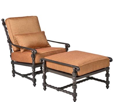 Landgrave Bretain Cast Aluminum Lounge Chair