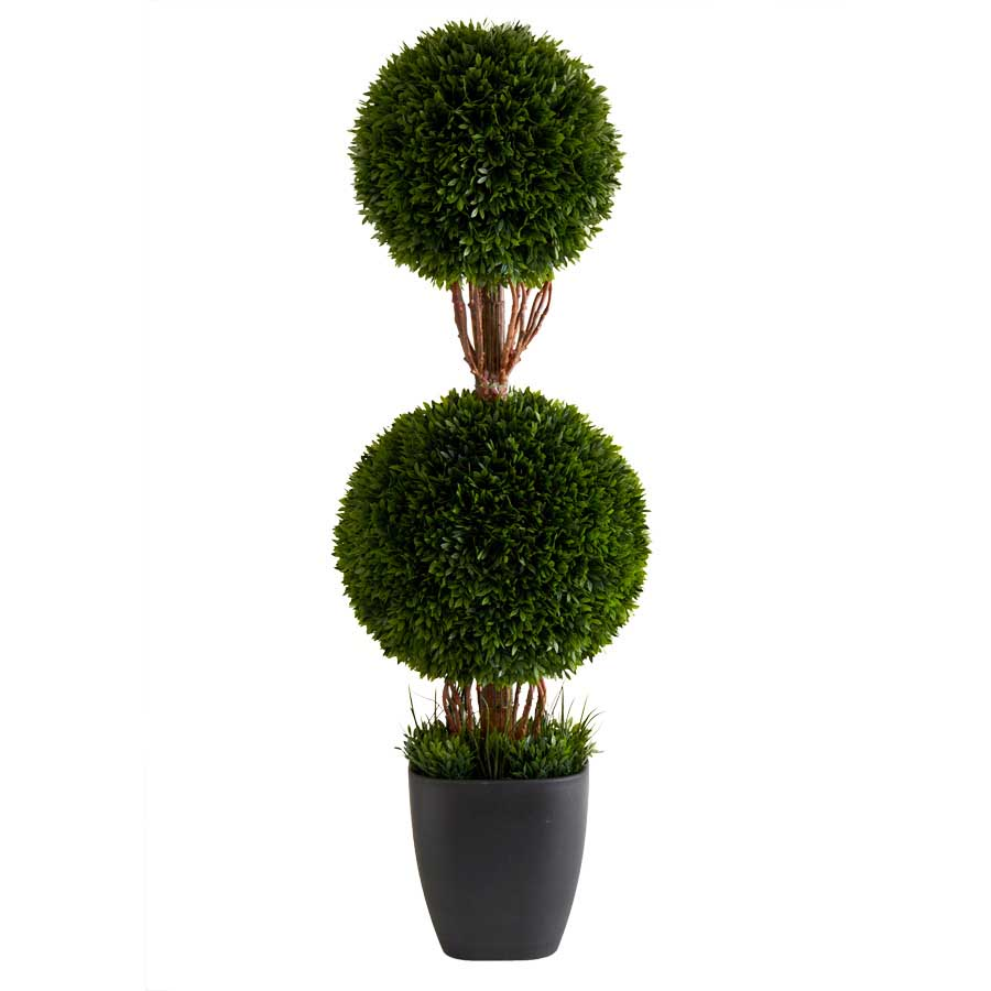 36� Double Tea Leaf Ball Topiary in Pot