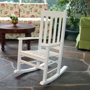 Solid Maple Youth / Children's Rocker in White Paint