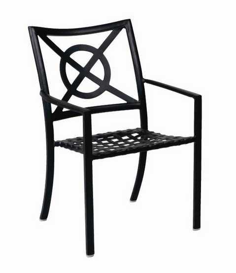 Landgrave Royale Aluminum Dining Arm Chair