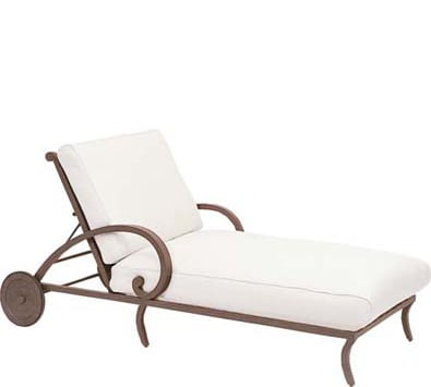 Landgrave Centurion Cast Aluminum Adjustable Chaise Lounge