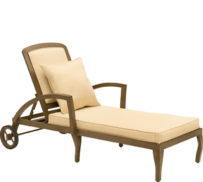 Landgrave Atlanta Cast Aluminum Adjustable Chaise Lounge