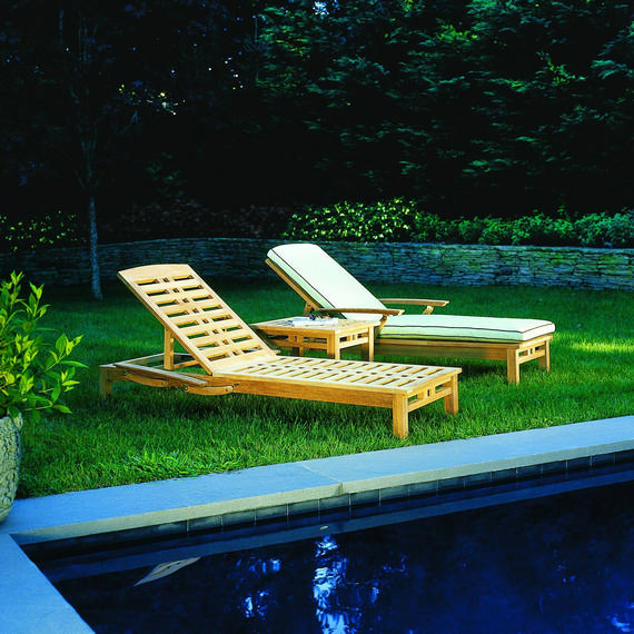 Kingsley-Bate Mandalay Teak Chaise (sold in quantities of two or more)