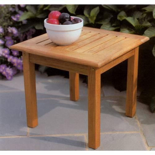 Kingsley-Bate Classic Teak 20 � Square Side Table (20�H)