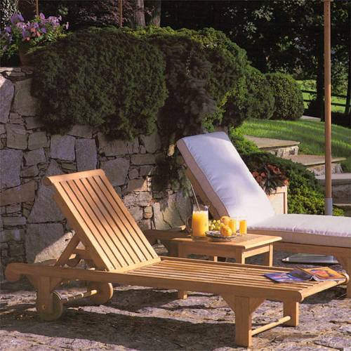 Kingsley-Bate Nantucket Teak Chaise (sold in quantities of two or more)