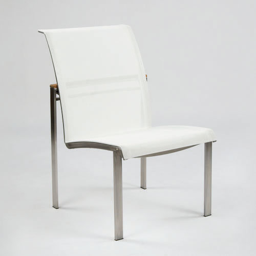 Kingsley-Bate Tivoli  Stainless Steel and Teak Dining Side Chair (Stacking)
