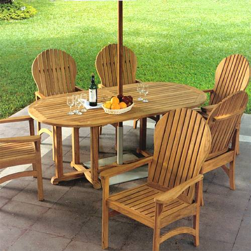 Kingsley-Bate Essex Teak Oval Dining Table 72�