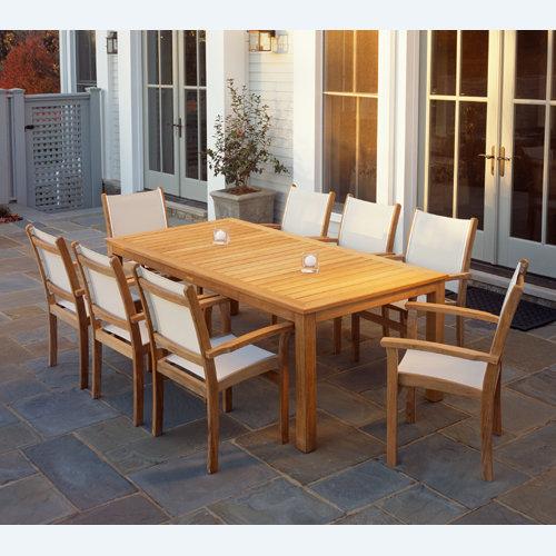 Wainscott Teak 85� Rectangular Dining Table