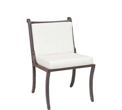Landgrave Centurion Cast Aluminum Dining Side Chair – Seat & Back Cushions