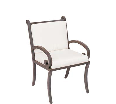 Landgrave Centurion Cast Aluminum Dining Arm Chair – Seat & Back Cushions