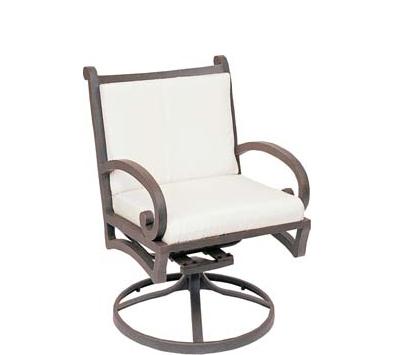 Landgrave Centurion Cast Aluminum Swivel Counter Stool – Seat & Back Cushions