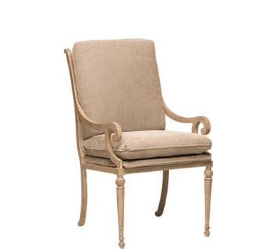 Landgrave Contempo Cast Aluminum Dining Arm Chair - Seat & Back Cushions