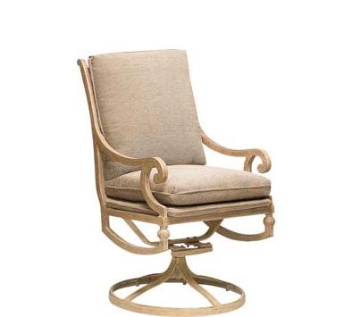 Landgrave Contempo Cast Aluminum Swivel Rocker – Seat & Back Cushion