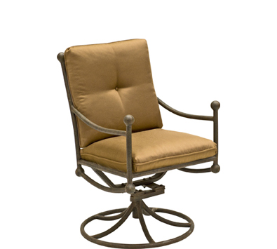 Landgrave Hacienda Cast Aluminum Swivel Rocker – Seat & Back Cushions