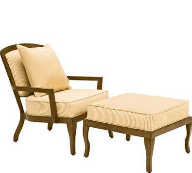 Landgrave Atlanta Cast Aluminum Stationary Lounge Chair