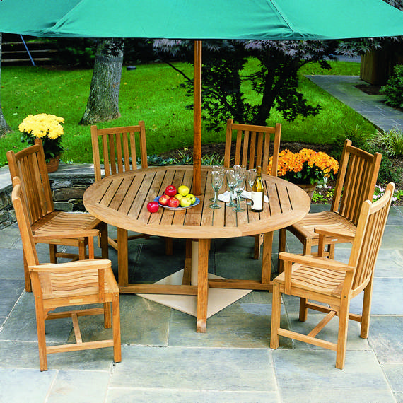 Kingsley-Bate Essex and Classic Teak 11 Piece Dining Ensemble